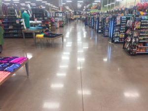 Polished Concrete Shop Floor